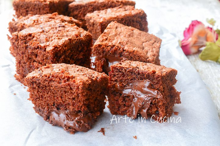 Torta brownies alla nutella