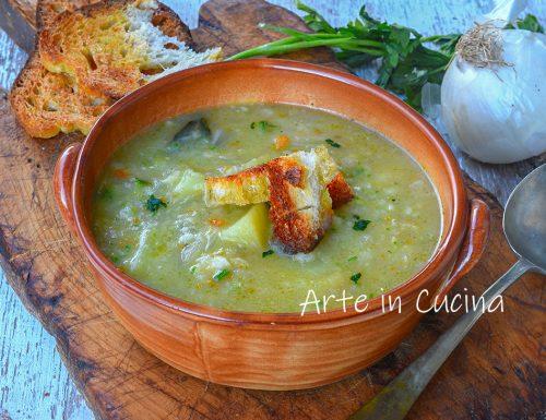 Zuppa di cipolle e patate