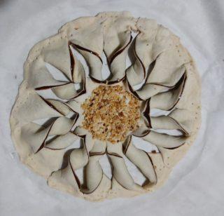 Stella alla nutella di pasta sfoglia