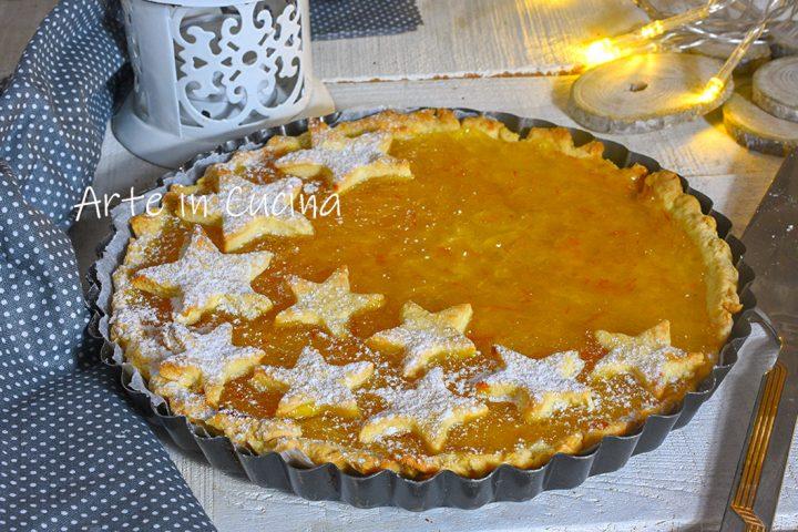 Crostata natalizia all'arancia