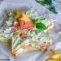 Stella di sfoglia salata salmone e avocado