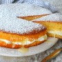 Torta crema pasticcera e panna