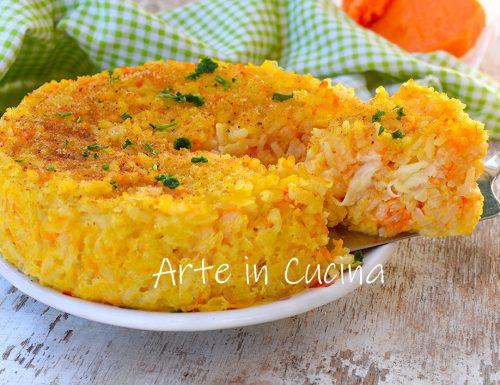 Torta di riso e zucca al forno