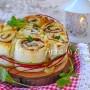 Torta di rose con pancarrè salata