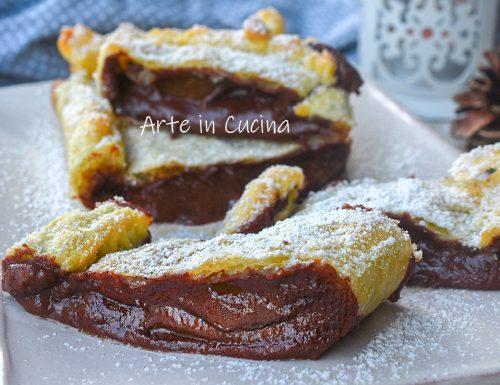 Cheesecake di sfoglia al cioccolato e crema