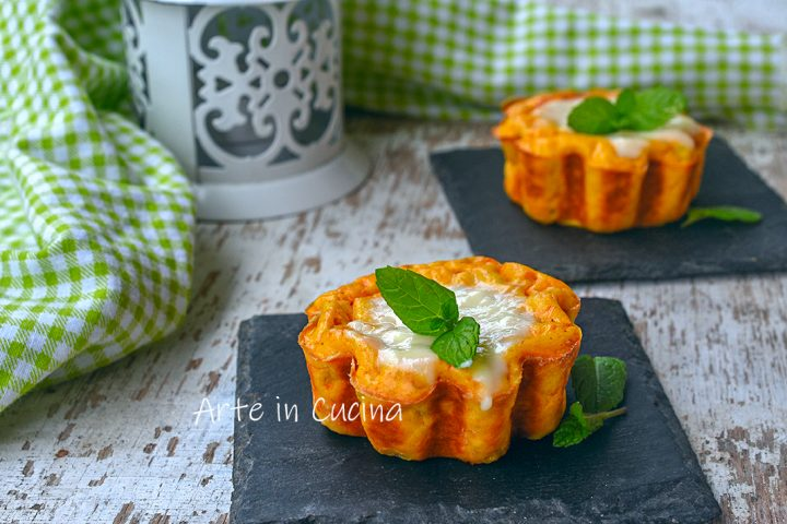Tortini di zucca flan leggero e gustoso