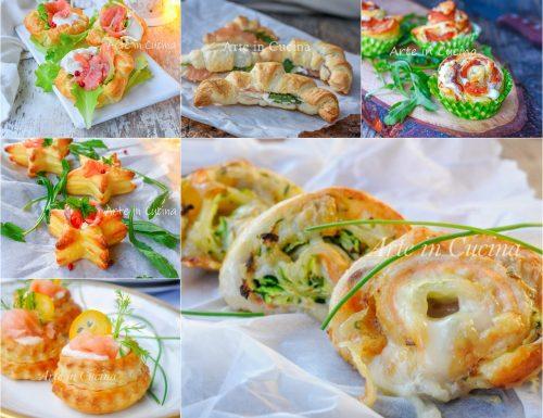10 Antipasti di sfoglia con salmone