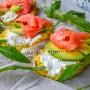 Crostini di patate salmone e avocado