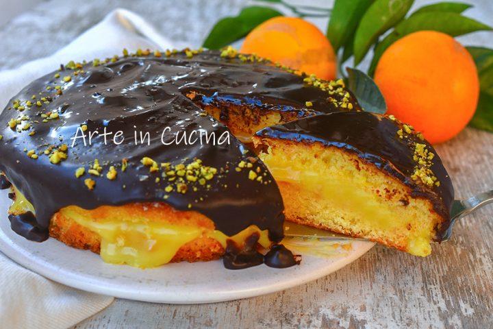 Pan di spagna crema arancia e cioccolato