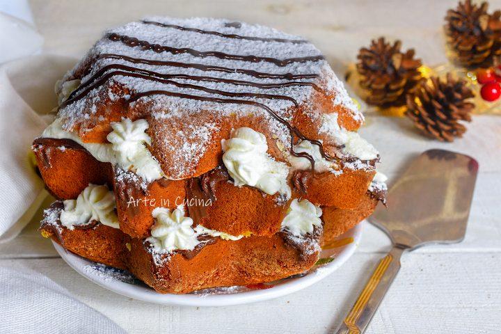 Pandoro veloce dolce gastronomico nutella e mascarpone