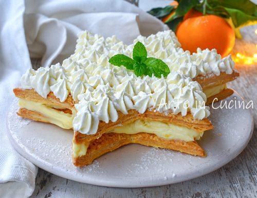 Stella di sfoglia con cheesecake all'arancia