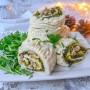Tronchetto di Natale salato salsiccia e friarielli