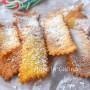 Chiacchiere al cocco dolci di Carnevale