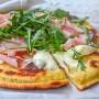 Pizza alle patate soffice veloce in padella