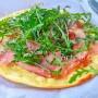 Pizza speck e rucola veloce in padella