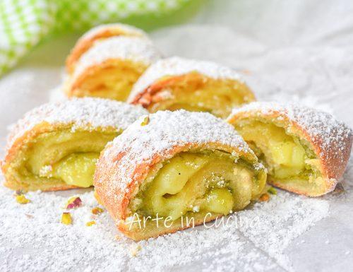 Girelle di frolla pistacchio e crema