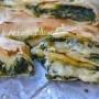 Rustico con spinaci antipasto con sfoglia senza burro