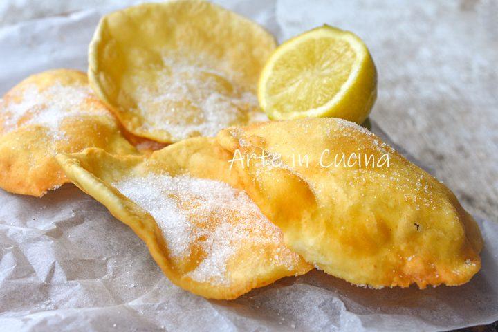 Sfogliatine di Carnevale al limone