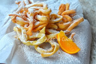 Tagliatelle di carnevale all'arancia