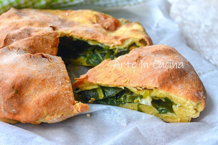 Torta spinaci veloce e leggera al forno