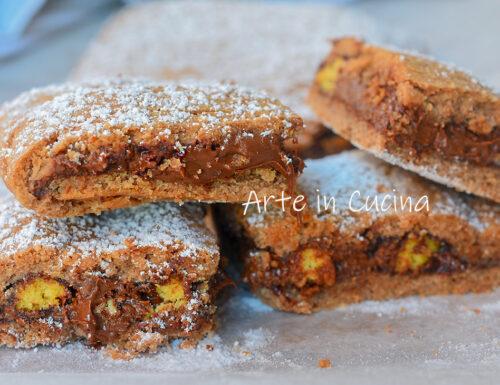 Crostata nutella e biscotti togo