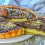 Crostata rocher con crema al cioccolato
