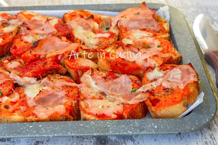Pizza di pane raffermo farcita