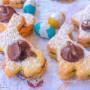 Biscotti coniglietti alle mandorle con nutella