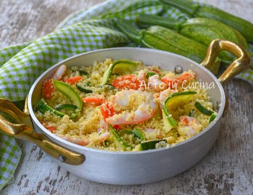 Cous cous zucchine e gamberetti