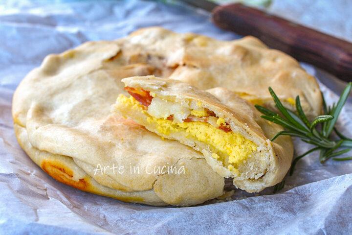 Crostata ricotta e salame con brisè senza burro