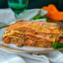Lasagne zucca mortadella e ragù