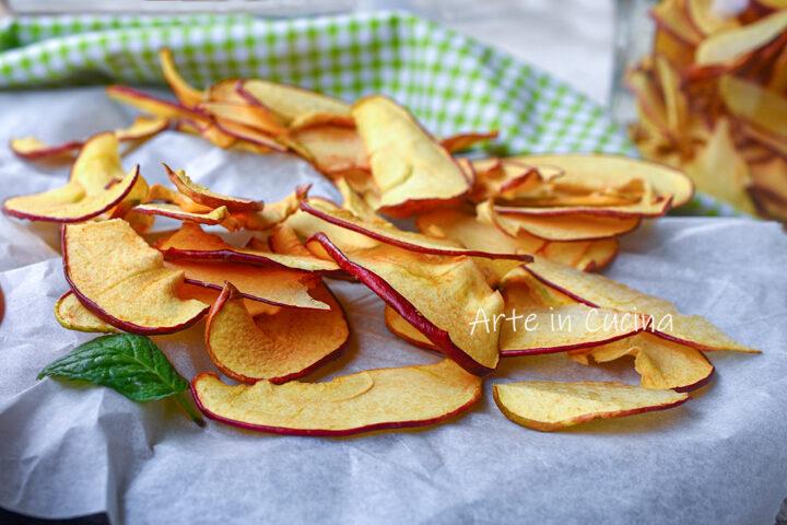 Chips di mele essiccate