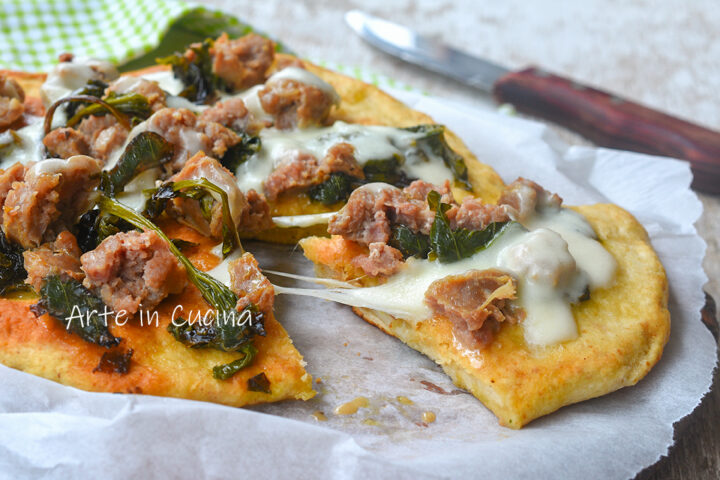 Pizza salsiccia e friarielli veloce