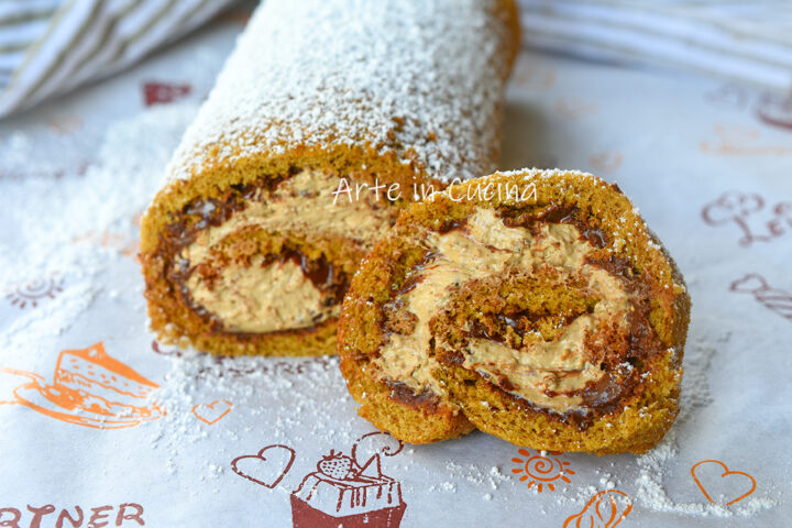 Rotolo di pasta biscotto caffè e nutella