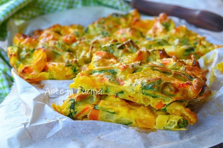 Schiacciata di verdure al forno