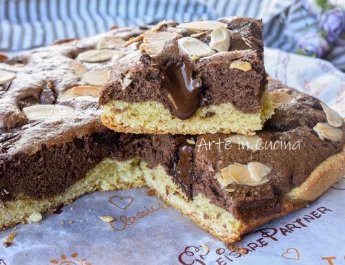 Torta crostata mandorle e cioccolato morbida