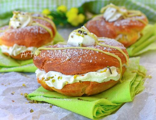 Zeppole paradiso al pistacchio