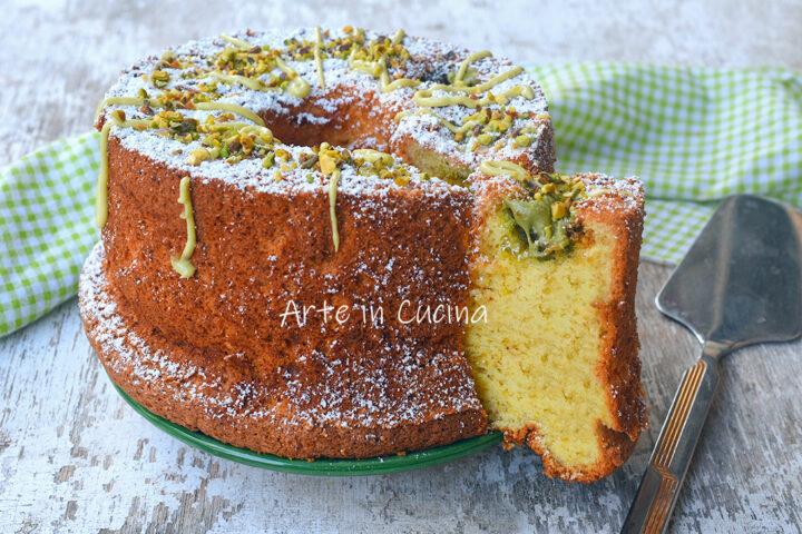 Chiffon cake al pistacchio ciambella americana