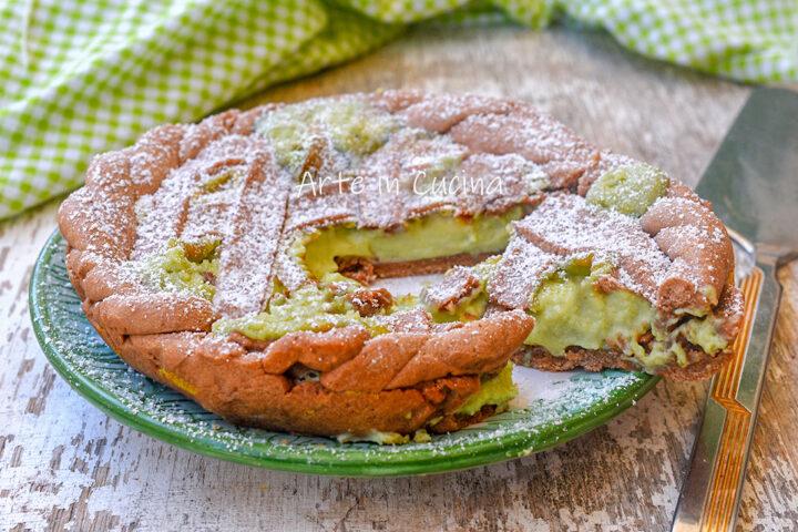 Crostata al cacao pistacchio e mascarpone