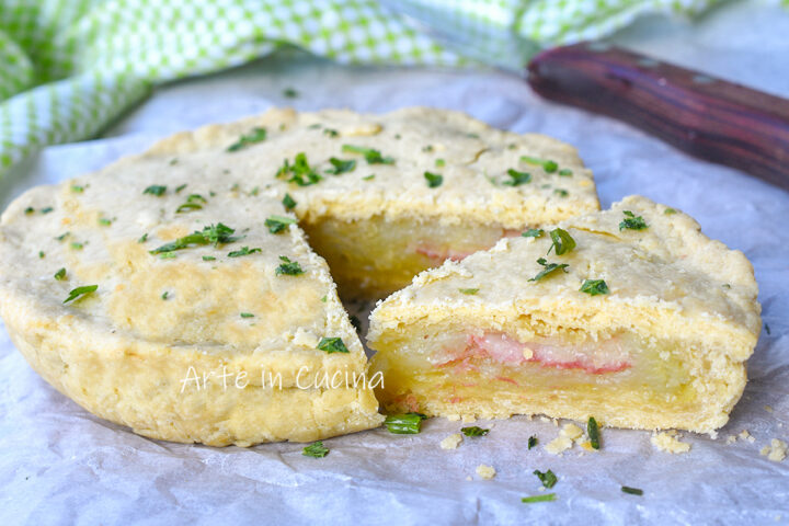 Crostata patate e prosciutto salata
