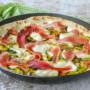 Piadizza romagnola con zucchine e speck