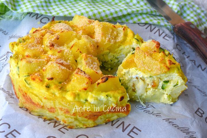 Sbriciolata di patate ricotta e zucchine
