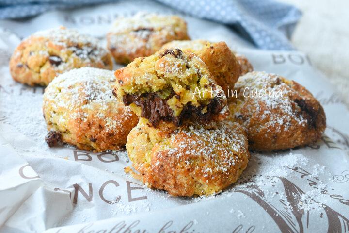 Biscotti morbidi cioccolato e nutella