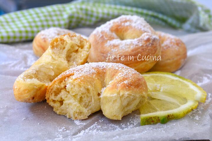 Ciambelle cocco e limone brioche