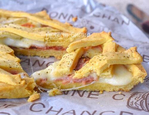 Crostata salata speck e formaggio