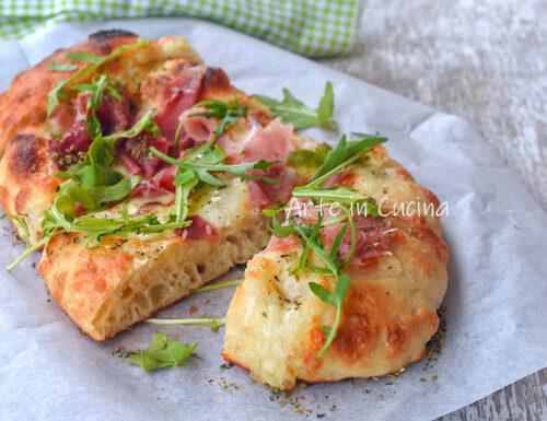 Lingue di pizza speck e rucola