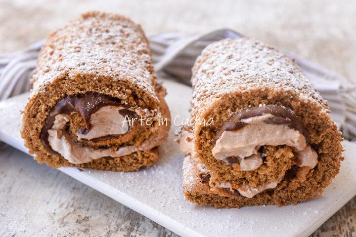 Rotolini di pasta biscotto nutella e caffè