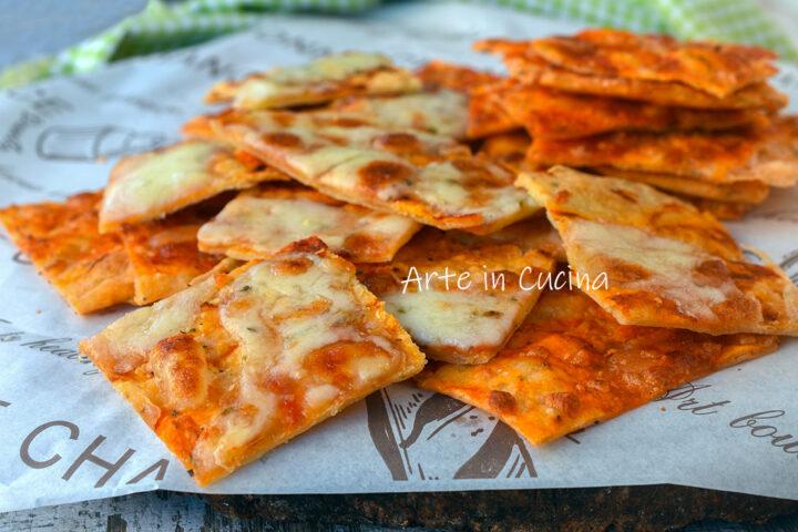 Schiacciatine alla pizza veloci
