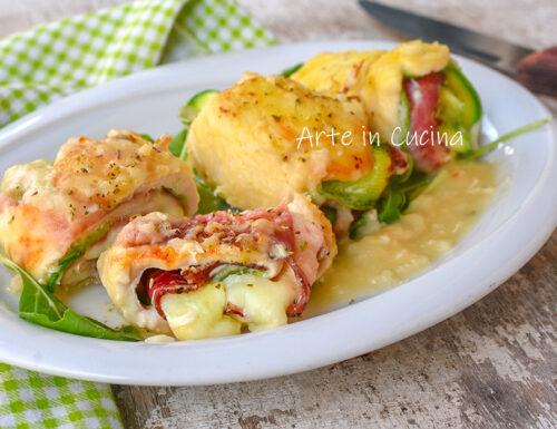 Rotolini di pollo e zucchine cremosi