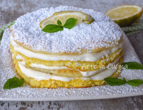 Torta zuppetta al limone dolce veloce